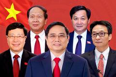 Lĩnh vực công tác của Thủ tướng và các Phó Thủ tướng