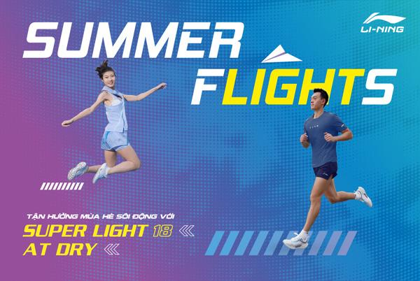 Hè năng động cùng BST Li-Ning Summer Flights siêu nhẹ, thoáng mát