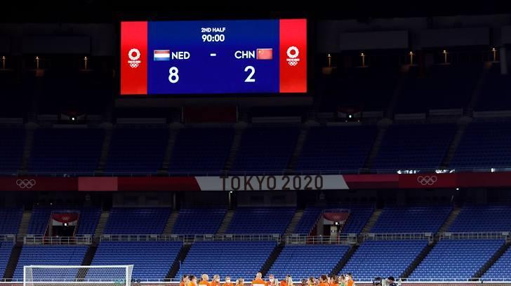 Tuyển nữ Trung Quốc bị loại sau thảm bại 2-8 trước Hà Lan