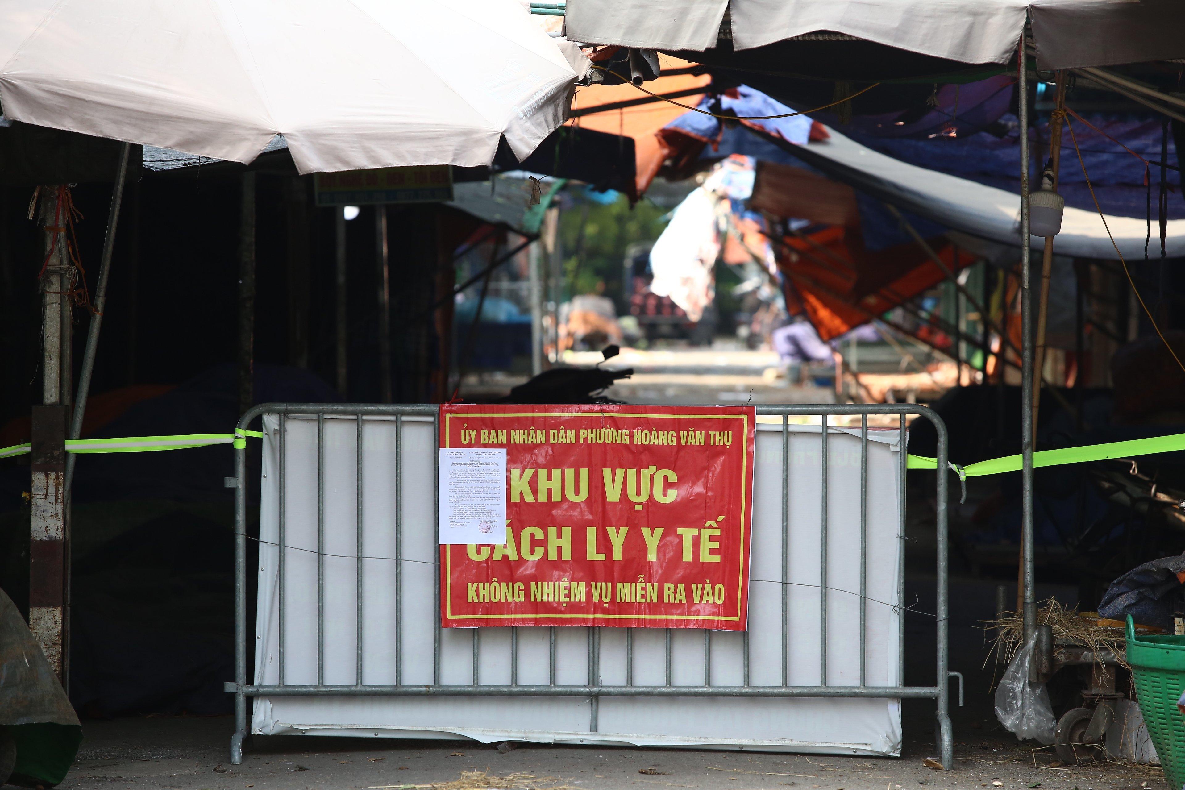 Dừng hoạt động, phong tỏa chợ đầu mối phía Nam Hà Nội