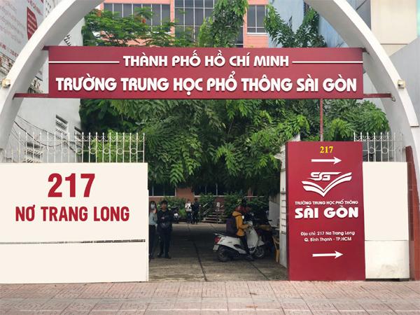 Trường Trung Học Phổ Thông Sài Gòn miễn học phí lớp 10 năm 2021