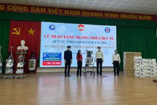 Quỹ từ thiện Kim Oanh hỗ trợ Đồng Nai máy thở, vật tư y tế phòng chống dịch