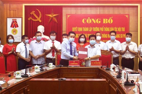 Hà Giang thành lập trường PTDT nội trú tại các huyện Hoàng Su Phì, Xín Mần, Bắc Mê và Đồng Văn