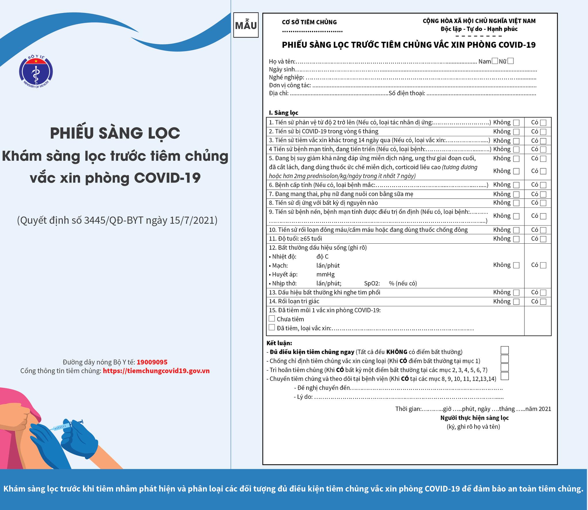 Có 8 dấu hiệu sau tiêm vắc xin Covid-19 bạn cần đến ngay cơ sở y tế