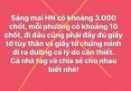Tung tin 'Hà Nội có khoảng 3.000 chốt', một người bị phạt 12,5 triệu đồng