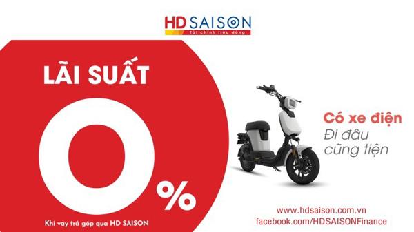 Lãi suất 0% dành cho khách hàng vay mua phương tiện đi lại trả góp