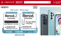 Lên đời OPPO Reno 6 series giá mềm ở CellphoneS