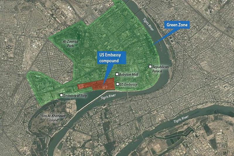 Đại sứ quán Mỹ ở Iraq bị nã tên lửa