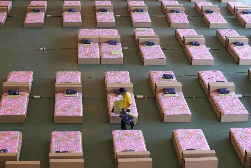 Hình ảnh sân bay ở Bangkok thành bệnh viện dã chiến trị Covid-19