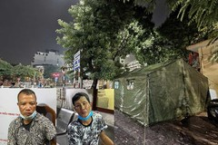 Cảnh sát ở chốt kiểm soát dịch Covid-19 quật ngã tên cướp trên phố Hà Nội
