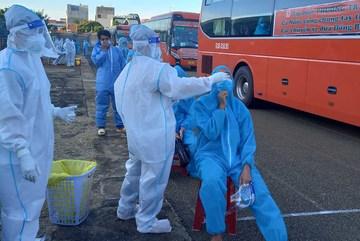 Phú Yên đón thêm 450 công dân từ vùng dịch về quê