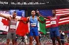 VĐV Italy giành HCV chạy 100m nam Olympic Tokyo