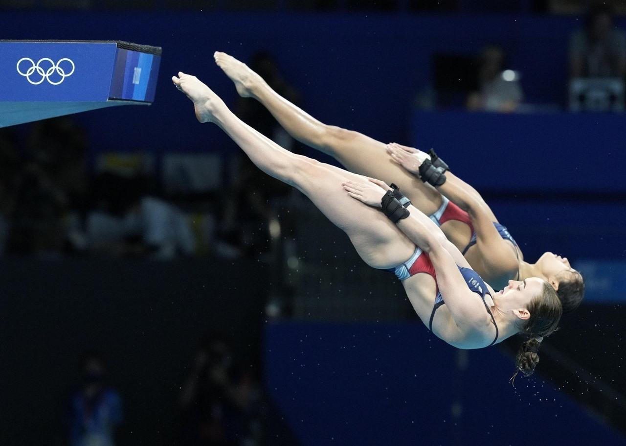 Những khoảnh khắc ngoạn mục của VĐV nhảy cầu Olympic Tokyo