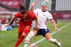 Lịch thi đấu vòng bán kết bóng đá nữ Olympic 2020