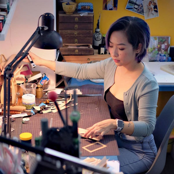 Hanoian woman showcases passion for leather work