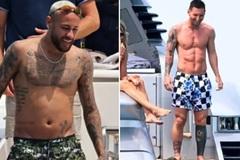 Fan hốt hoảng với ngoại hình của Neymar 'xả hơi' mùa hè