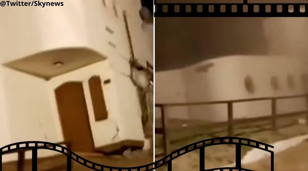 Nhà 2 tầng sụt móng bất ngờ đổ sập trong tích tắc