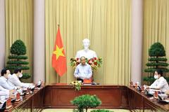 Chủ tịch nước biểu dương 3 triệu công nhân ngành dệt may, vừa sản xuất vừa chống dịch