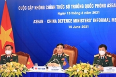 Các bộ trưởng quốc phòng ASEAN họp trực tuyến thảo luận về vấn đề an ninh khu vực