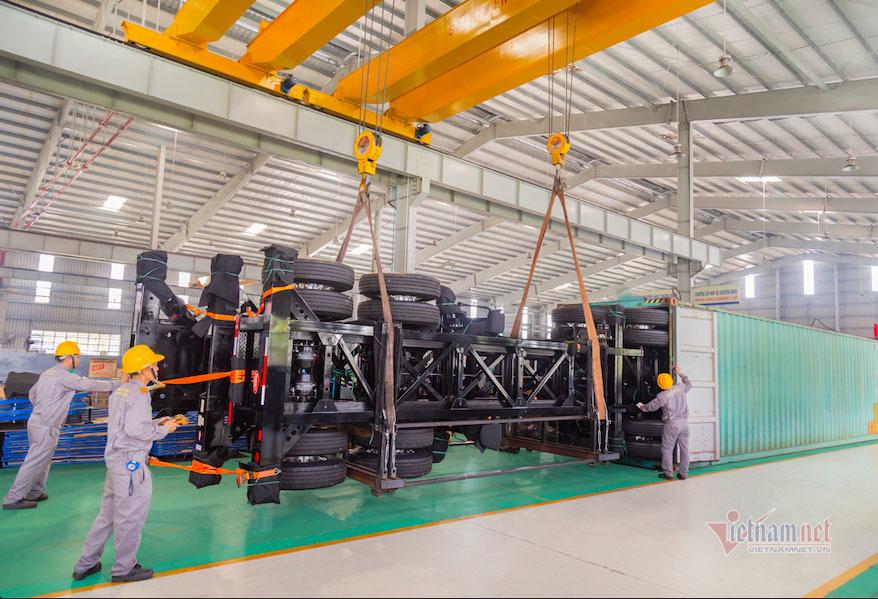 Thaco xuất khẩu 50 sơmi rơmoóc sang Mỹ