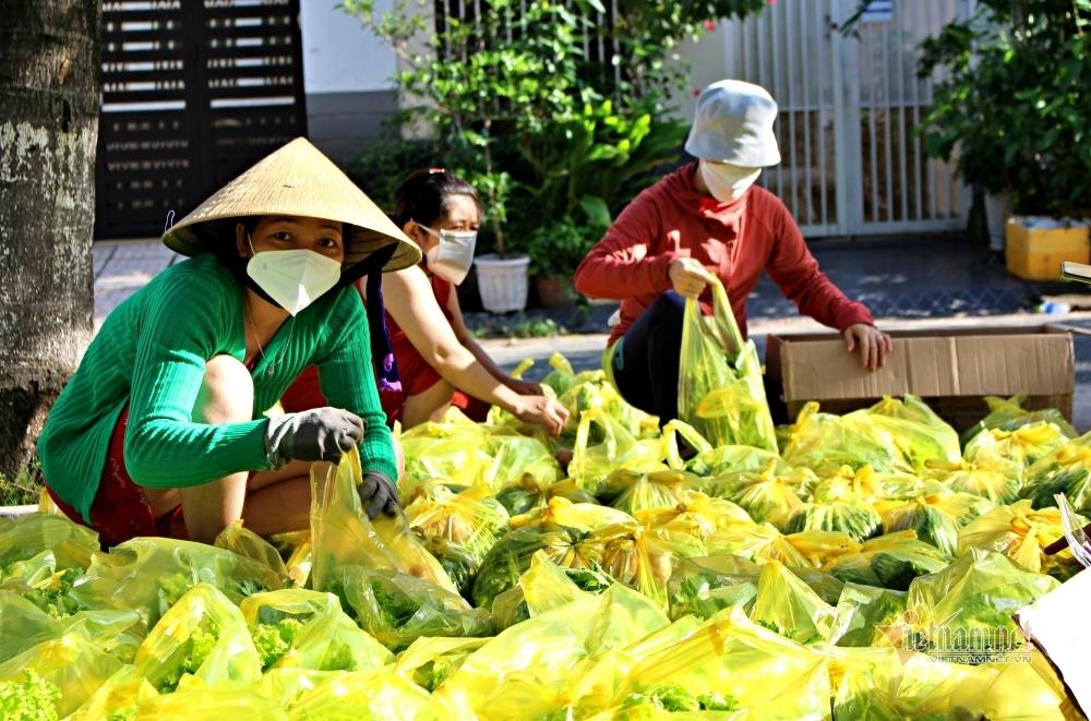 Xế hộp, xe tải luồn hẻm đưa quà đến xóm trọ nghèo Sài thành