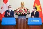 Phó Tổng thống, Bộ trưởng Ngoại giao Thụy Sĩ thăm Việt Nam