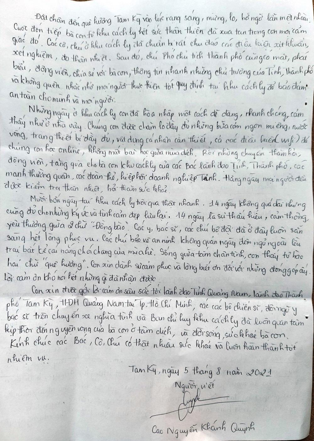 Nữ sinh trên chuyến xe về quê từ tâm dịch: Thấu hiểu, yêu thương 2 chữ 'Đồng bào'