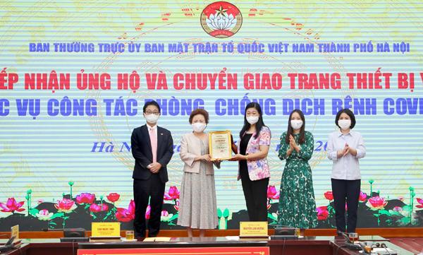 BRG, SeABank và Công ty Thành phố Thông minh tặng Hà Nội trang thiết bị chống dịch