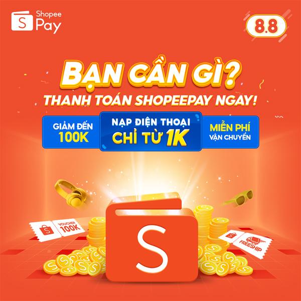 5 lý do phải dùng ngay ví ShopeePay trong bão sale 8.8