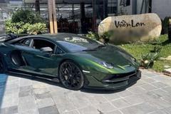 Bất ngờ đại gia tậu Lamborghini màu xanh độc nhất Việt Nam