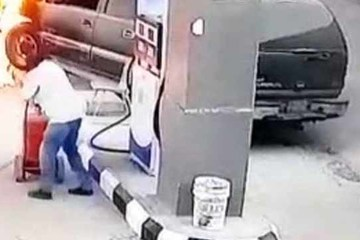 Nữ tài xế gây đại họa tại cây xăng