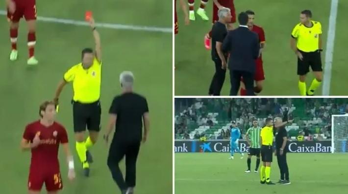 Mourinho bị đuổi, Roma thua thảm với đội hình chỉ còn 8 người