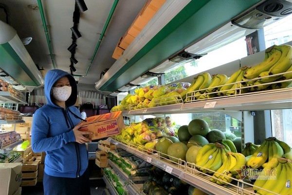 Siêu thị bus di động, đưa lương thực thực phẩm tới từng khu phố