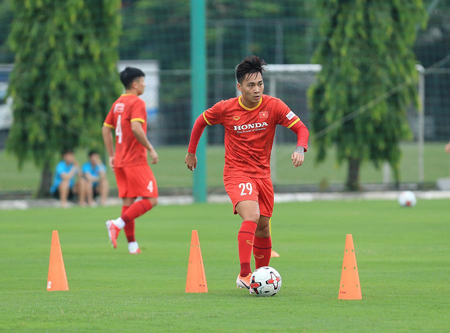 Tuấn Anh báo tin vui với HLV Park Hang Seo