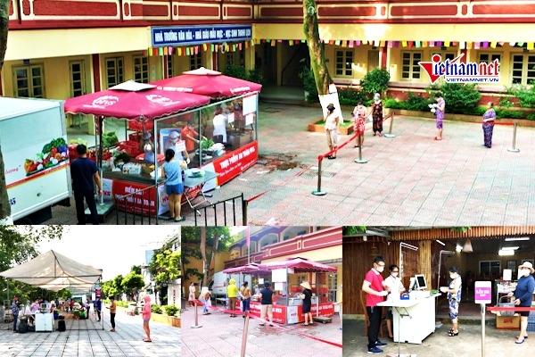 Đi chợ lưu động ở Hà Nội: Giá niêm yết, thông thoáng, đảm bảo giãn cách