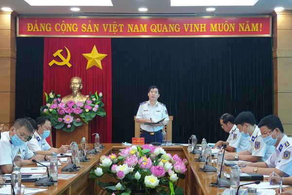 """CSB họp chuẩn bị cuộc thi trực tuyến """"Tìm hiểu Luật Cảnh sát biển Việt Nam"""" cấp toàn quốc"""