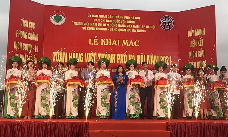 Hơn 100 gian hàng tham gia Tuần hàng Việt Thành phố Hà Nội năm 2021
