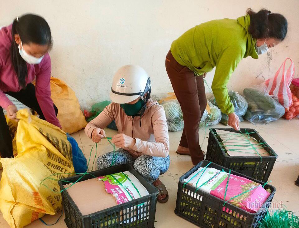Người dân Quảng Nam hái rau, góp gạo tiếp sức cho Đà Nẵng chống dịch