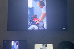 Foreign DJ in HCMC plays music on balcony for neighbors