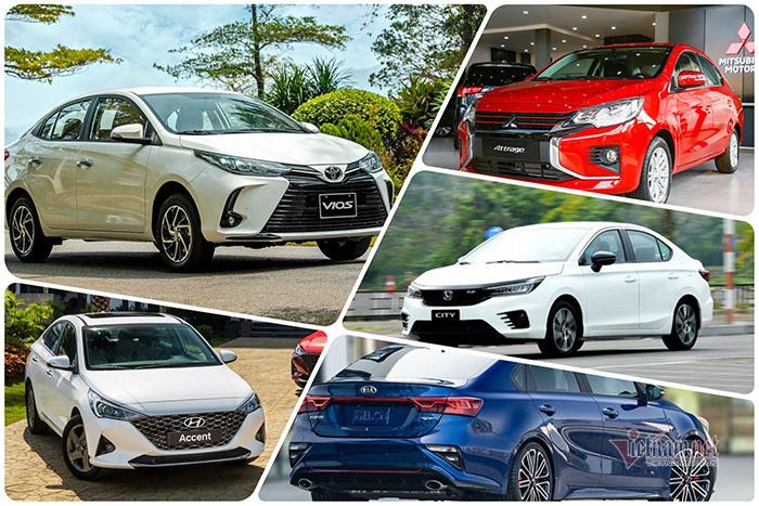 Xe sedan dưới 700 triệu tháng 7/2021: Accent tụt hạng, Vios vẫn ngôi đầu