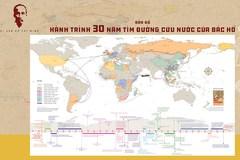 Tái hiện bằng bản đồ Hành trình 30 năm tìm đường cứu nước của Bác Hồ
