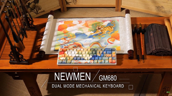 Bàn phím cơ không dây Newmen GM680: Độc đáo, lạ mắt