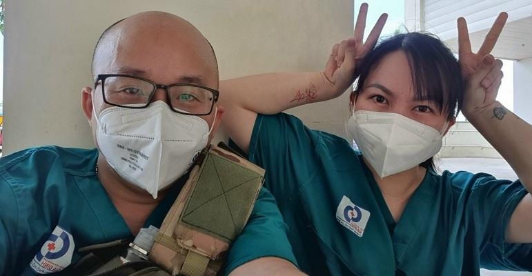 Vợ chồng cùng chống dịch: 'Đã nhất là thấy các bệnh nhân được xuất viện'