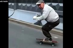 Người đàn ông 73 tuổi gây 'bão mạng' với tài trượt ván điêu luyện