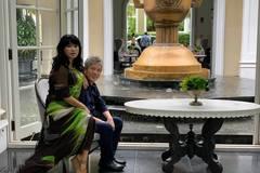 Thanh Lam bên người yêu bác sĩ cầu bình an đến mọi người