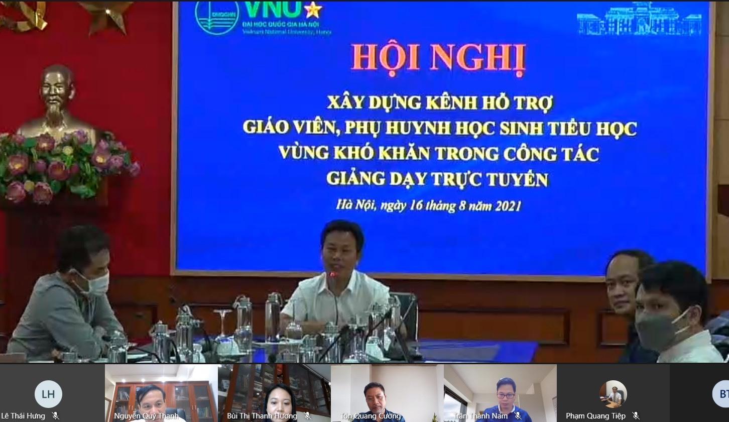 ĐH Quốc gia Hà Nội làm kênh hỗ trợ học trực tuyến bậc tiểu học ở vùng khó