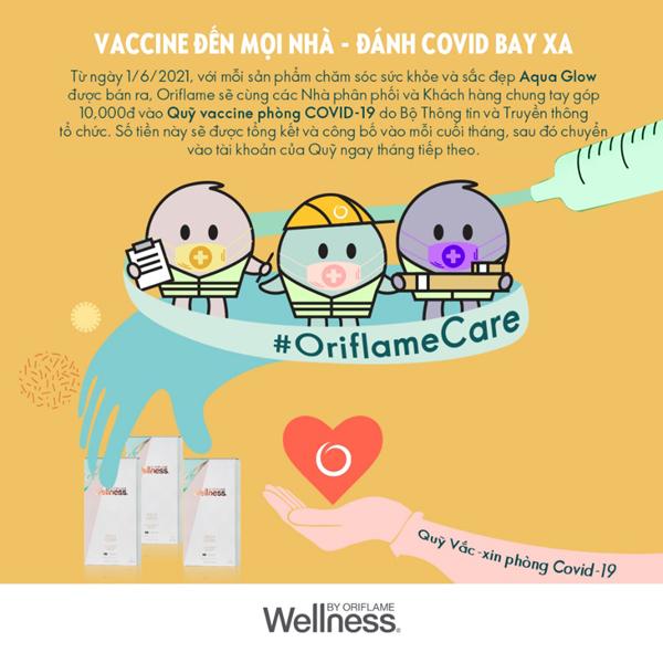 Oriflame tổ chức nhiều hoạt động ủng hộ chống dịch Covid-19