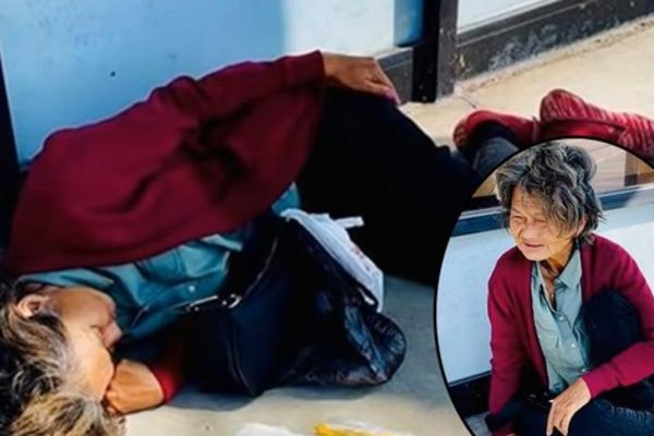 Hình ảnh mới nhất của Kim Ngân ở Mỹ: Đói lả, ngủ bên vệ đường