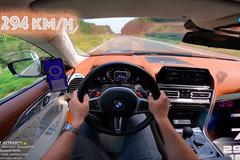 """Xem chiếc BMW M8 đạt tốc độ gần 300 km/h """"dễ như ăn kẹo"""""""