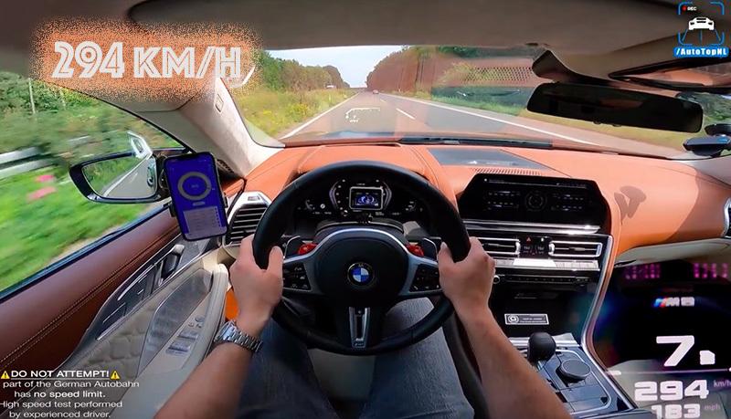 Xem chiếc BMW M8 đạt tốc độ gần 300 km/h 'dễ như ăn kẹo'
